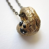 Supermarket: Tiny Sloth Necklace from LB Yours