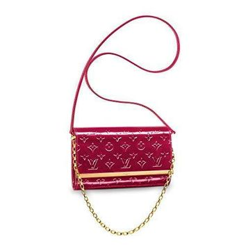 Louis Vuitton Monogram Vernis Leather Ana Clutch Handbag Article:M90092 Indian Rose Ma