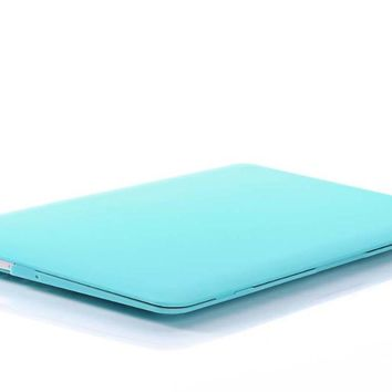 New Fasion Tiffany Blue Matte Case For Apple Macbook Air Pro Retina 11 12 13 15 Laptop Cover For Mac book 11.6 13.3 15.4 inch