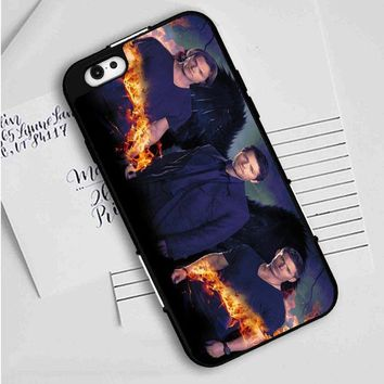 Supernatural (flames and guys) iPhone Case