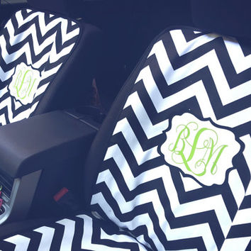 2 Seat Mats - Car Accessories - New Car Gift - Monogram car seat cover - Chevron Seat Cover - Sweet 16 Gift - Teen Driver Gift - Custom