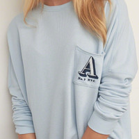 Long Logo Graphic Sweatshirt