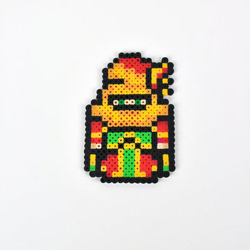 Gogo from Final Fantasy VI Magnet Perler Bead Super Nintendo