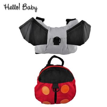 2017 Quality Security Safety Baby harness kids keeper Cartoon Backpacks for Children Strap Bag Anti-lost Walking Wings