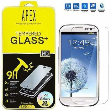 TEMPERED GORILLA GLASS SCREEN PROTECTOR for SAMSUNG GALAXY S3 MINI i8190 USA HQ 635909324539