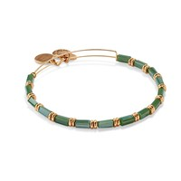 Peridot Starlit Canvas Beaded Bangle
