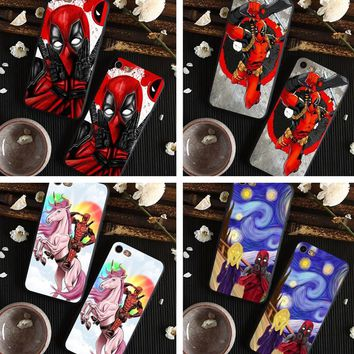 Super Cool Marvel Deadpool 2 Super Hero Soft silicone Phone Case Cover For iphone 8 8Plus 7 7Plus 6 6S 6Plus 5 5S SE x