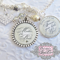 Mother of the Bride Gift WEDDING Necklace Inspirational Quote Necklace Today a Bride Tomorrow a Wife Grandmother Motherin Law Heart Weddings