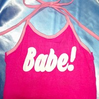 SWEET LORD O'MIGHTY! BABE HALTER IN PINK