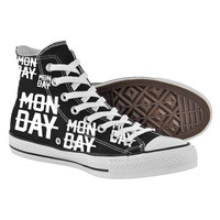 Monday Shoes,High Top,canvas shoes,Painted Shoes,Special Christmas Gift,Birthday gift,Men Shoes,Women Shoes