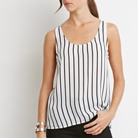 Striped Chiffon Top - Tops - 2002247452 - Forever 21 EU