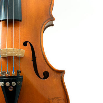 Violin Fiddle Fine Art Photography Musician Home Decor 16x20 Print Bridge Strings Bow Fine Tuners Man Cave Decor