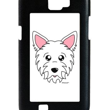 Cute West Highland White Terrier Westie Dog Galaxy Note 2 Case  by TooLoud