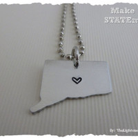 Connecticut State Necklace - Make a STATEment