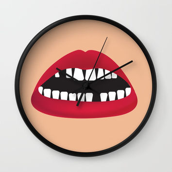 Smile more Wall Clock by trash-id