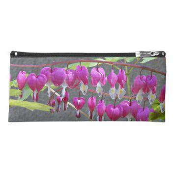 Pink Bleeding Hearts Floral Pencil Case
