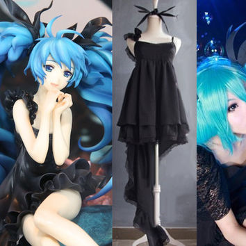 "Vocaloid Miku Hatsune ""Deep Sea Girl"" Cosplay Costume Dress"