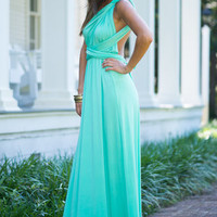All For One Maxi Dress, Mint