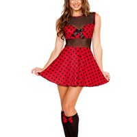 Roma Costume - 2pc Miss Mouse Women's Costume