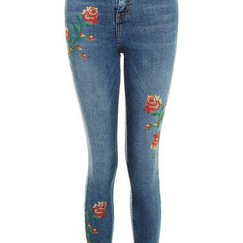 MOTO Embroidered Jamie Jeans - Shop The Front Row - We Love