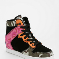 Cute To The Core Clutch Camo Hidden Wedge High-Top Sneaker - Urban Outfitters