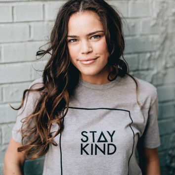 STAY KIND TEE - HEATHER GRAY (MENS/UNISEX)