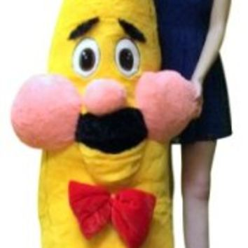 Giant Stuffed Banana With Mustache 6 Feet Tall so Watch Out for The Killer Banana Big Plush Fruit