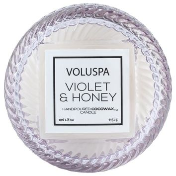 VOLUSPA VIOLET & HONEY MACARON CANDLE