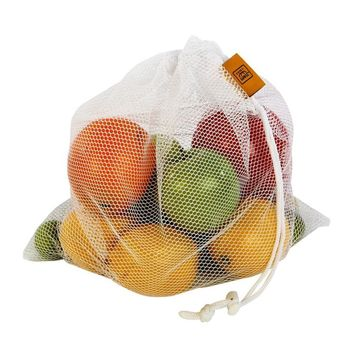 Package of 5 Drawstring Mesh Produce Bags