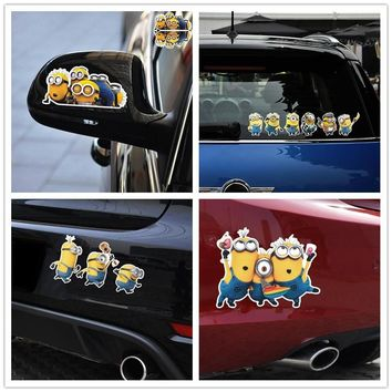 Car Stickers Minions Cartoon Lovely Funny Creative Decals For Fuel Cap Tail  Waterproof Reflective Auto Tuning Styling D11