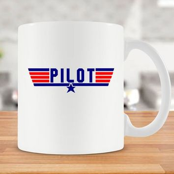 Gift For Pilot Coffee Mug Airplane Mug Aviation Gifts Best Coffee Cup Plane Mug Funny Coffee Mug Pilot Gift For Him Ceramic Mug - SA326