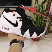 Off-White x Nike Kyrie 4 AJ1691-100 Basketball Shoe