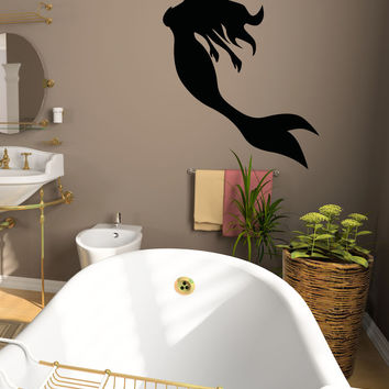 Mermaid Silhouette Wall Decal Sticker. #OS_AA1207