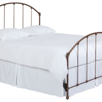 Celina Arched Steel Bed, Copper, Panel Beds