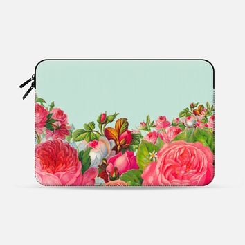 "Bold Floral Macbook 12"" sleeve by Allyson Johnson 