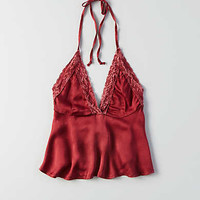 Don't Ask Why Satin Halter Top, Twilight Red