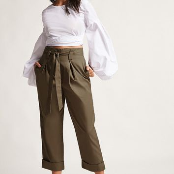 High-Rise Paperbag Trousers