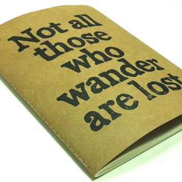 EXTRA LARGE Journal with JRR Tolkien Quote  Not by WordsIGiveBy