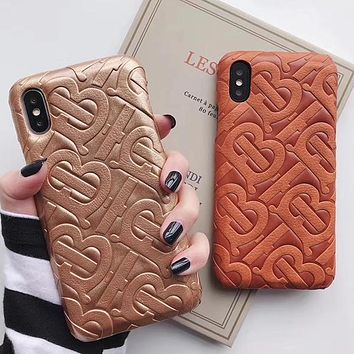 Burberry Fashion iPhone Phone Cover Case For iphone 6 6s 6plus 6s-plus 7 7plus 8 8plus iPhone X XR XS XS MAX
