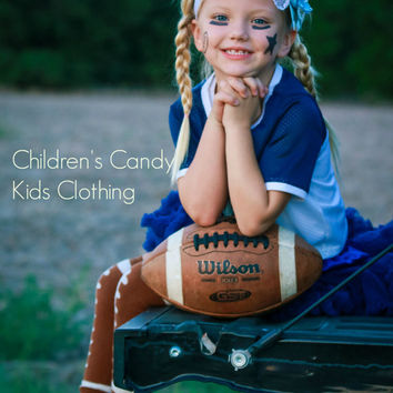 Dallas Cowboys , Blue - Gray - White , Headband Accessory , Baby Girl  Hairbands , Football , Photo Props