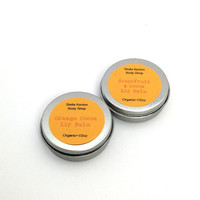 Grapefruit Cocoa and Orange Cocoa Lip Balm Set, Stocking Stuffer, Organic Lip Balm