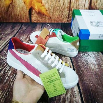 Puma Suede X Staple puma Rainbow Colorufl Left and right shoes Sneakers