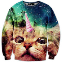 Galactic Unicorn Kitty Crewneck