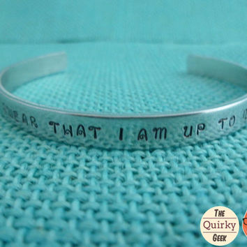 Personalized Hand Stamped Jewelry - I solemnly swear that I am up to no good - Harry Potter Inspired Hand Stamped Cuff