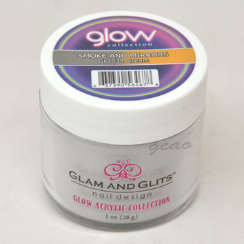 Glam and Glits GLOW ACRYLIC Glow in the Dark Nail Powder 2034 Smoke and Mirrors