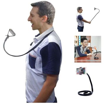 Flexible Long Arms Cell Phone Clip Holder Snake-like Car Desktop Bed Neck Selfie Clamp Mount for Iphone 3gs 4 4s 5 5s 6 6s Plus