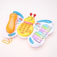 Baby Toys Butterfly Cellphone Mobile Phone Early Childhood PianoToys Phone Multi-function Music Toy Baby Educational Toy