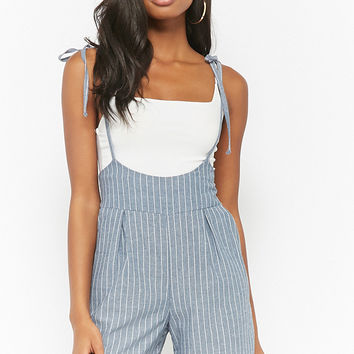 Pinstriped Cami Overalls