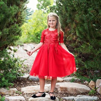 Red Gwendolyn Dress - Toddler, Girls & Juniors