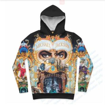 Newest Fashion Womens/Mens King of Pop - Michael Jackson Funny 3D Print Casual Hoodies Pullovers Sweatshirts LMS00030